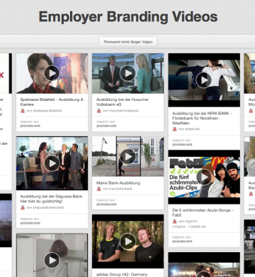 Employer Branding Video-Sammlung auf Pinterest