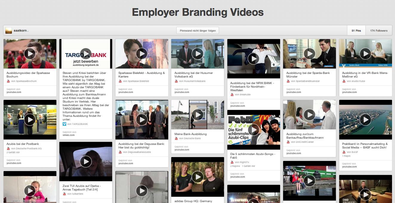 Employer Branding Video-Sammlung auf Pinterest